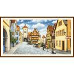 Zestaw z nadrukiem i muliną - Malowniczy Rothenburg
