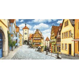 Aida z nadrukiem - Malowniczy Rothenburg