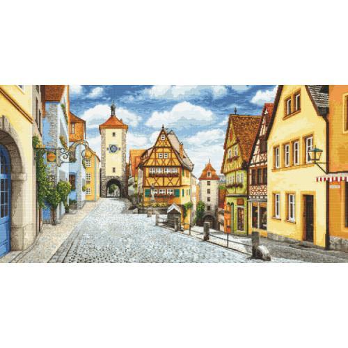 Kanwa z nadrukiem - Malowniczy Rothenburg
