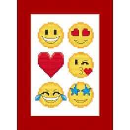 Wzór graficzny ONLINE - Kartka - Emotikonki