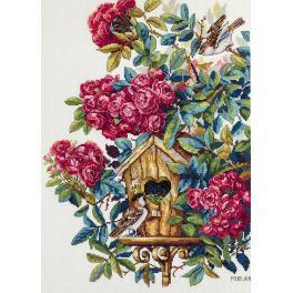 Zestaw z muliną - Krzak róży