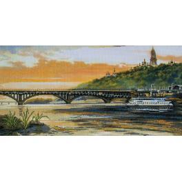 NCP 2226 Zestaw do haftu z podmalowanym tłem - Brzegi Dniepru