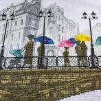 Zestaw z muliną i podmalowanym tłem - Świetlisty deszcz