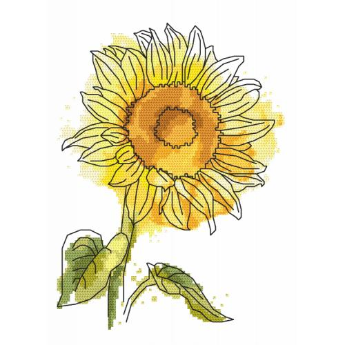Zestaw z nadrukiem i muliną - Uroczy słonecznik