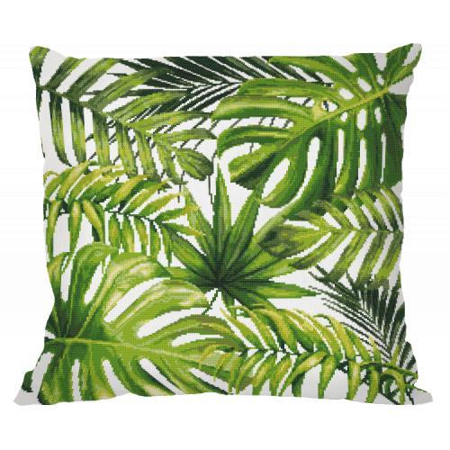 Wzór graficzny - Poduszka - Egzotyczne liście