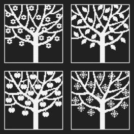 W 8982 Wzór graficzny ONLINE pdf - Cztery pory roku