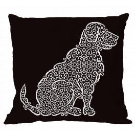 Wzór graficzny ONLINE - Poduszka - Koronkowy labrador