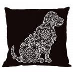 Wzór graficzny - Poduszka - Koronkowy labrador