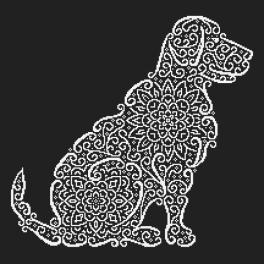 Zestaw z koralikami - Koronkowy labrador