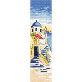 ZU 10186 Zestaw do haftu - Zakładka - Pozdrowienia z Grecji