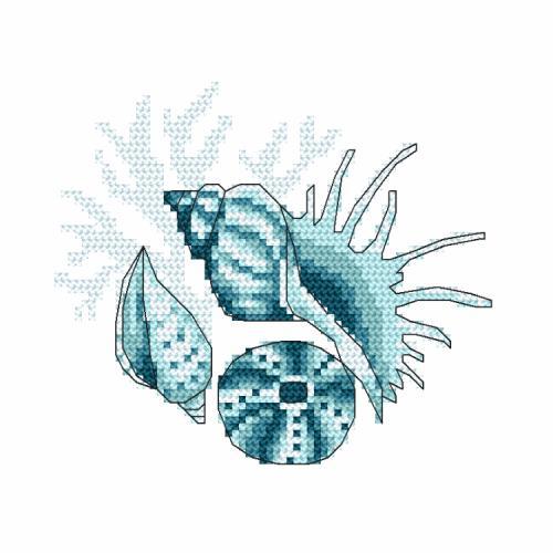 Wzór graficzny ONLINE - Muszle morskie III