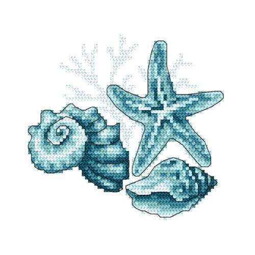 W 10220 Wzór graficzny ONLINE - Muszle morskie II