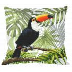 Wzór graficzny ONLINE - Poduszka - Tukan w tropikach