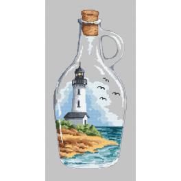 Wzór graficzny - Butelka z latarnią