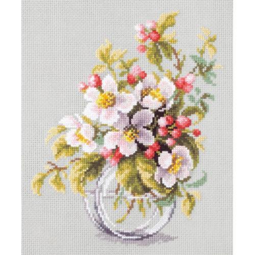 Zestaw z muliną - Kwitnąca gałąź jabłoni