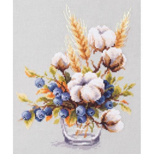 Zestaw z muliną - Kwitnąca bawełna i jagody