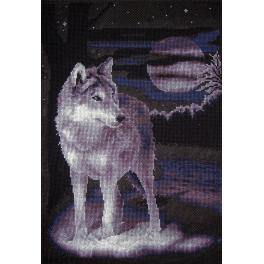 PAJ 0462 Zestaw do haftu - Biały wilk