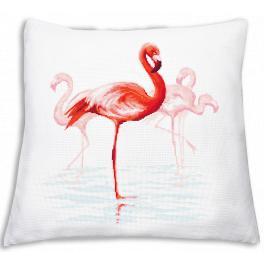 Wzór graficzny online - Poduszka z flamingami