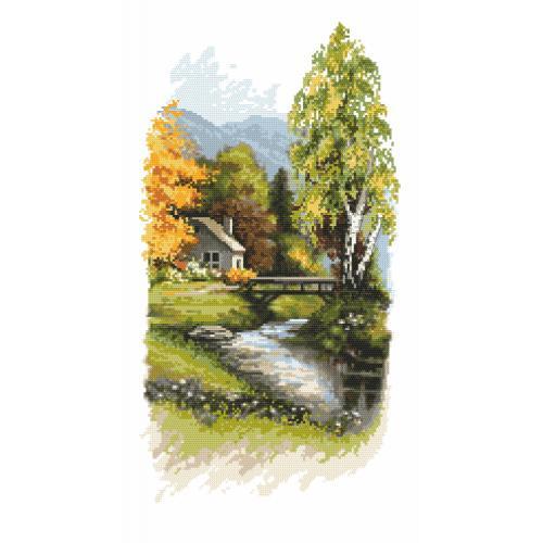 Zestaw z nadrukiem i muliną - Zwiastuny jesieni