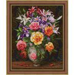 Zestaw do diamond painting - Róże i lilie