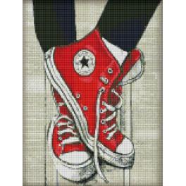 Zestaw do diamond painting - Ulubione sneakersy