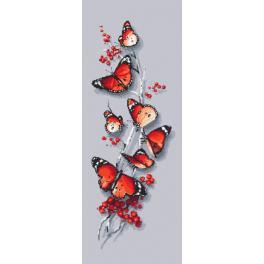 Zestaw z muliną i koralikami - Motyli czar