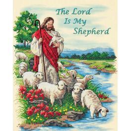 DIM 3222 Zestaw do haftu nadrukiem i podmalowanym tłem - Pan jest moim pasterzem
