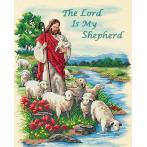 Zestaw z muliną i podmalowanym tłem - Pan jest moim pasterzem