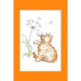 Wzór graficzny ONLINE - Kartka okolicznościowa - Kotek