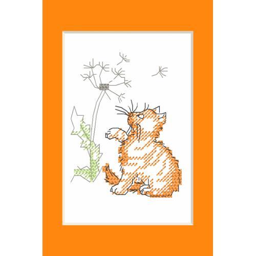 Wzór graficzny - Kartka okolicznościowa - Kotek