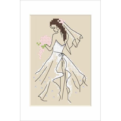 Wzór graficzny - Kartka ślubna - Panna młoda