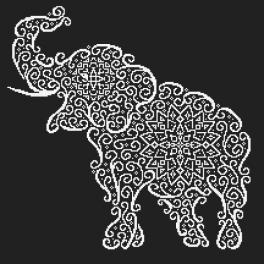 Zestaw z muliną - Koronkowy słoń