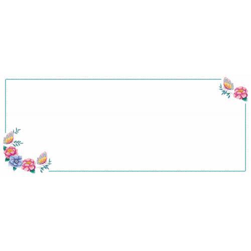 Wzór graficzny ONLINE - Bieżnik z kwiatkami