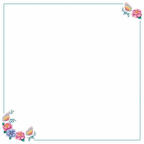Wzór graficzny - Obrus z kwiatkami