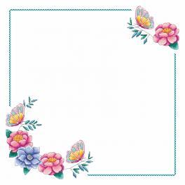 W 4395 Wzór graficzny ONLINE - Serwetka z kwiatkami