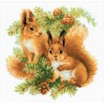 Zestaw z włóczką - Wiewiórki