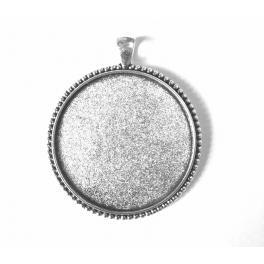 Baza medalionu okrągła kolor srebrny 40mm