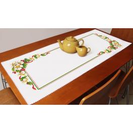 ZU 10194 Zestaw do haftu - Bieżnik - Świąteczny bieżnik z kwiatami