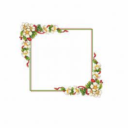 Wzór graficzny - Świąteczny obrus z kwiatkami