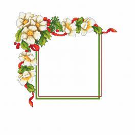 W 10195 Wzór graficzny ONLINE - Świąteczna serwetka z kwiatkami