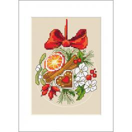 Wzór graficzny - Kartka - Świąteczna bombeczka