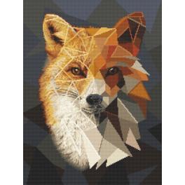 Zestaw z nadrukiem i muliną - Mozaikowy lis