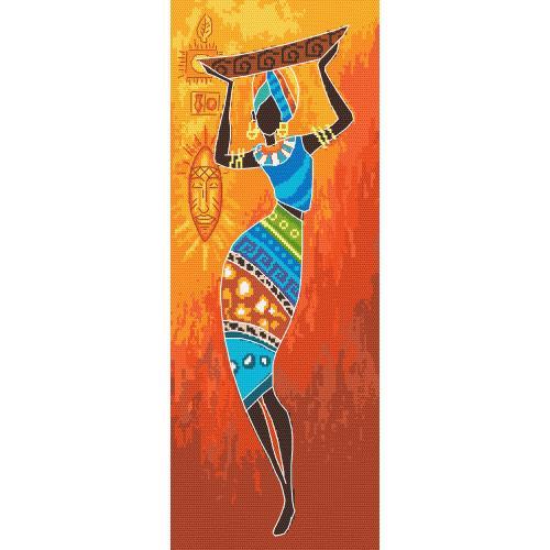 Zestaw z muliną i podmalowanym tłem - Energia Afryki