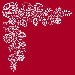Wzór graficzny - Serwetka - Biały haft