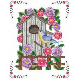 Zestaw z muliną - Karmnik w kwiatach