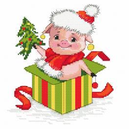 GC 10199 Wzór graficzny - Świąteczna świnka