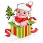 Wzór graficzny - Świąteczna świnka