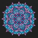Zestaw z muliną i poszewką - Poduszka - Mandala mocy