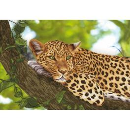 NCP 3263 Zestaw do haftu z podmalowanym tłem - Jaguar