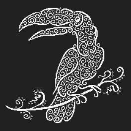 Wzór graficzny ONLINE - Koronkowy tukan